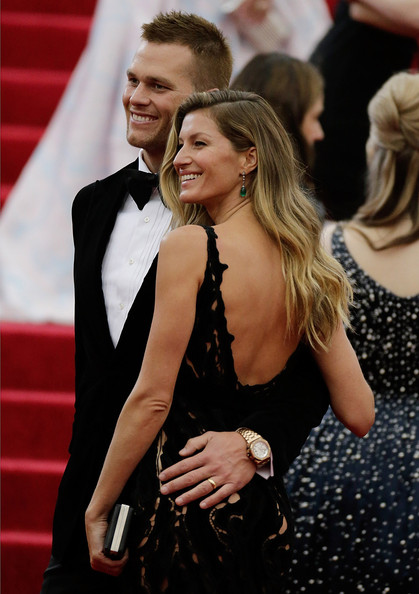 Gisele Bundchen and Tom Brady and attend the 'Charles James: Beyond Fashion' Costume Institute Gala at the Metropolitan Museum of Art on May 5, 2014 in New York City
