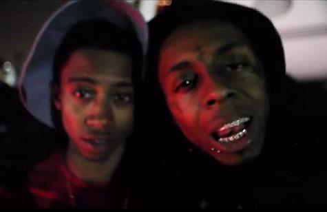 Lil Twist (L) and Lil Wayne