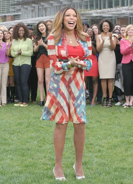 Wendy Williams filming during the kick off the Wendy Williams 'How You Doin'?' tour at Independence Hall on May 9, 2014 in Philadelphia, Pennsylvania