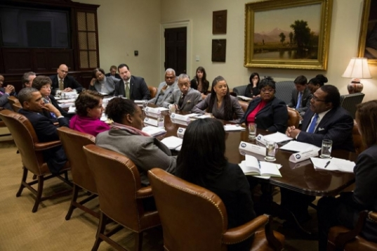 Obama Meets With Black Press Corps and Black Leaders.