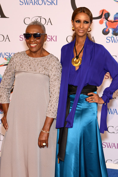 Bethann Hardison (L) and Iman attend the 2014 CFDA fashion awards at Alice Tully Hall, Lincoln Center on June 2, 2014 in New York City