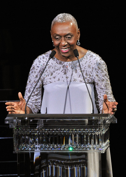 Bethann Hardison speaks onstage at the 2014 CFDA fashion awards at Alice Tully Hall, Lincoln Center on June 2, 2014 in New York City
