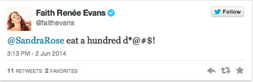 Faith Evans tweet