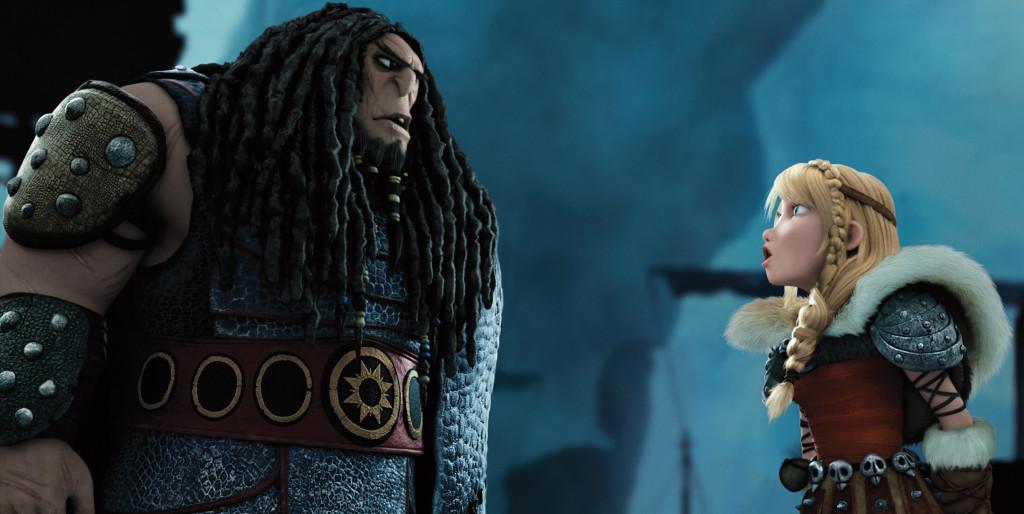 Djimon Hounson as Drago and America Ferrera as Astrid