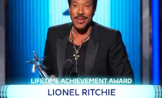 Lionel richie (misspelled name at bet awards)
