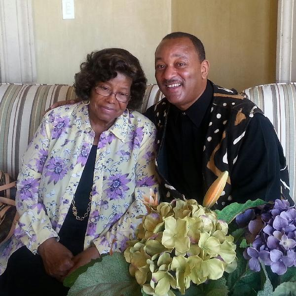 Katherine Jackson with Najee Ali, political director of the L.A. chapter of the National Action Network.