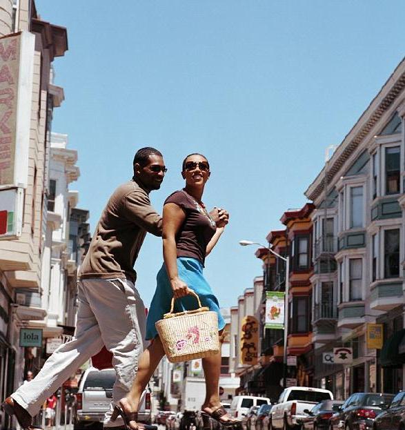 Pedestrians, African American