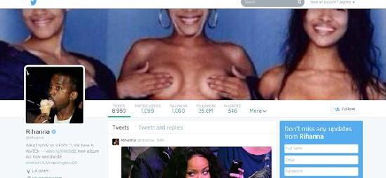 Rihanna tlc boobs tweet
