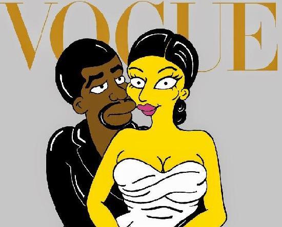 Vogue - kim & kanye caricature