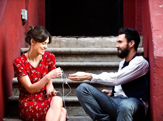 """Kiera Knightly and Adam Levine in """"Begin Again"""""""