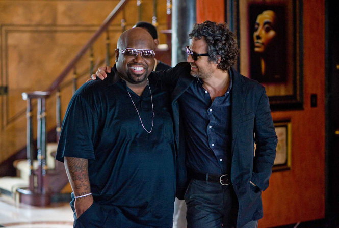 Cee Lo Green, left, and Mark Ruffalo star in the musical romantic comedy 'Begin Again.'