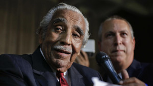 Rep. Charles Rangel, D-N.Y., speaks at his primary election night gathering, Tuesday, June 24, 2014, in New York. Rangel is seeking his 23rd term against opponent state Sen. Adriano Espaillat.