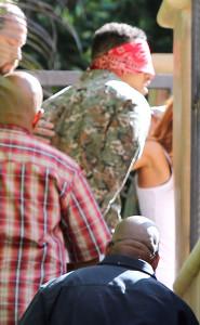 chris brown blindfolded 2