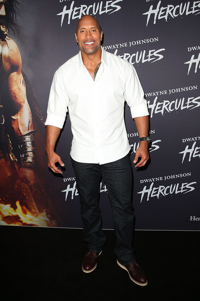 Dwayne Johnson arrives at the screening of 'HERCULES' at Event Cinemas George Street on June 19, 2014 in Sydney, Australia