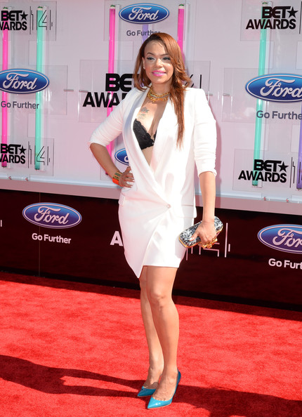 Singer Faith Evans attends the BET AWARDS '14 at Nokia Theatre L.A. LIVE on June 29, 2014 in Los Angeles, California