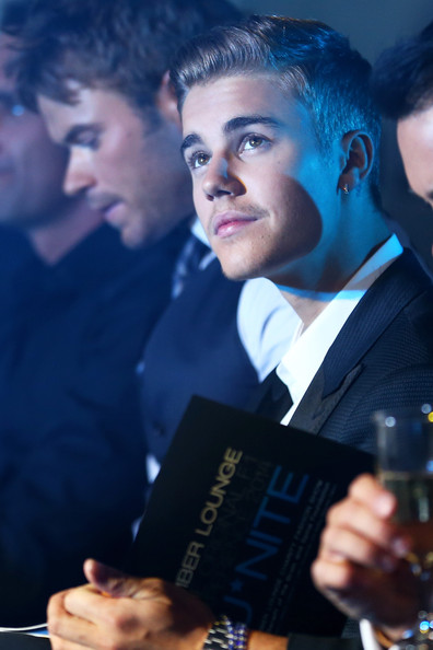 Justin Bieber attends the Amber Lounge Fashion Show ahead of the Monaco Formula One Grand Prix at Circuit de Monaco on May 23, 2014 in Monte-Carlo, Monaco