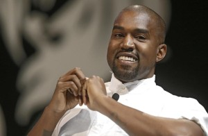 rapper Kanye West attends the Cannes Lions 2014 61st International Advertising Festival in Cannes, southern France, Tuesday, June 17, 2014.