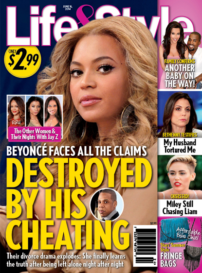life & style beyonce jay z cheating cover