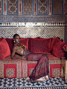 Lupita Nyong'o in Rodarte