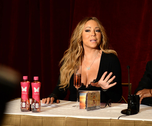 "Singer Mariah Carey announces the launch of her Go N'Syde bottle ""Butterfly"" at the Saint Regis Hotel on June 9, 2014 in New York City"