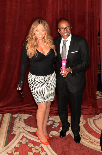 """Singer Mariah Carey announces the launch of her Go N'Syde bottle """"Butterfly"""" at the Saint Regis Hotel on June 9, 2014 in New York City"""