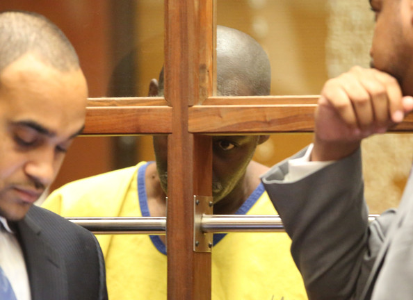 Actor Michael Jace (C) appears in court for his arraignment on murder charges June 18, 2014 in Los Angeles, California.