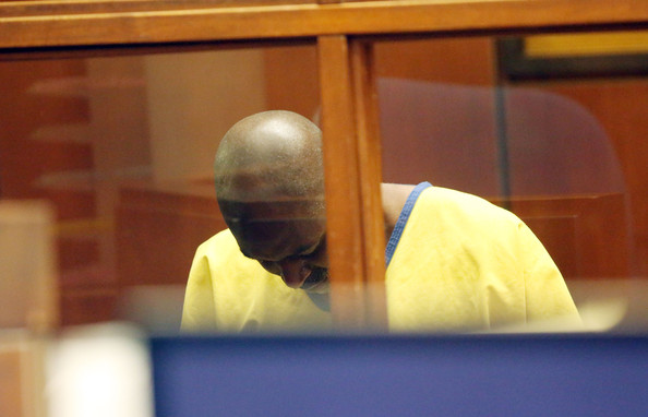 "Actor Michael Jace appears in Los Angeles Court for an arraignment on May 22, 2014 in Los Angeles, California. Jace, a cast member of the television drama ""The Shield,'' was charged with murder for allegedly shooting his wife April Jace during an argument at their home"