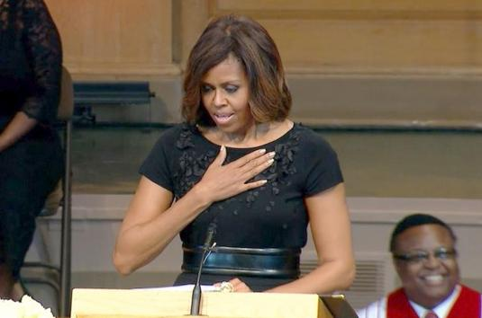 michelle obama - maya angelou services