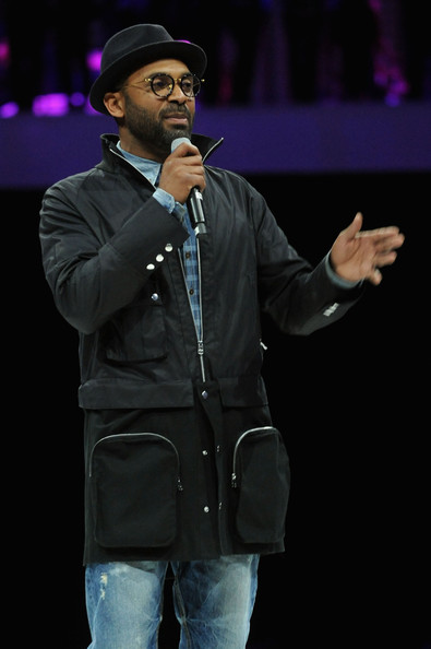 Mike Epps speaks onstage at the 2014 AOL NewFronts at Duggal Greenhouse on April 29, 2014 in New York, New York