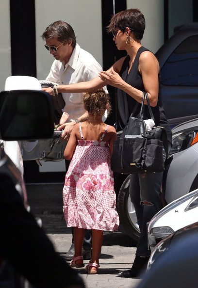 Halle Berry and Nahla at Fig & Olive in West Hollywood, California on Mother's Day, May 11, 2014