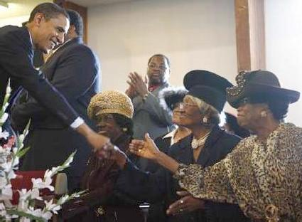 obama & church women