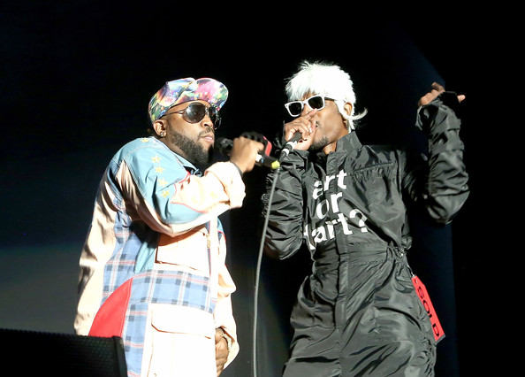 Rappers Big Boi (L) and Andre 3000 of OutKast perform during the 2014 Governors Ball Music Festival at Randall's Island on June 6, 2014 in New York City