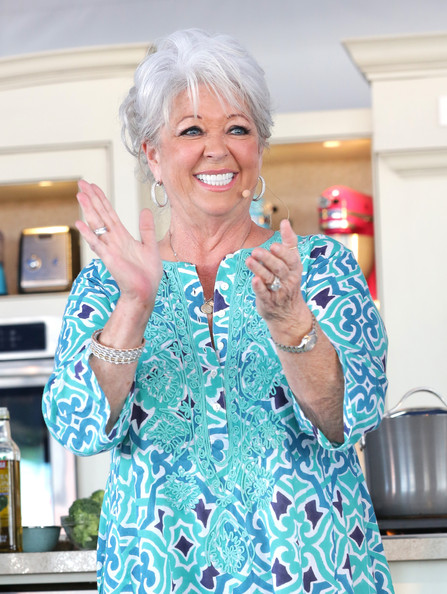 Paula Deen speaks at Whole Foods Market Grand Tasting Village Featuring MasterCard® Grand Tasting Tents during the Food Network South Beach Wine & Food Festival at Grand Tasting Village on February 23, 2014 in Miami Beach, Florida