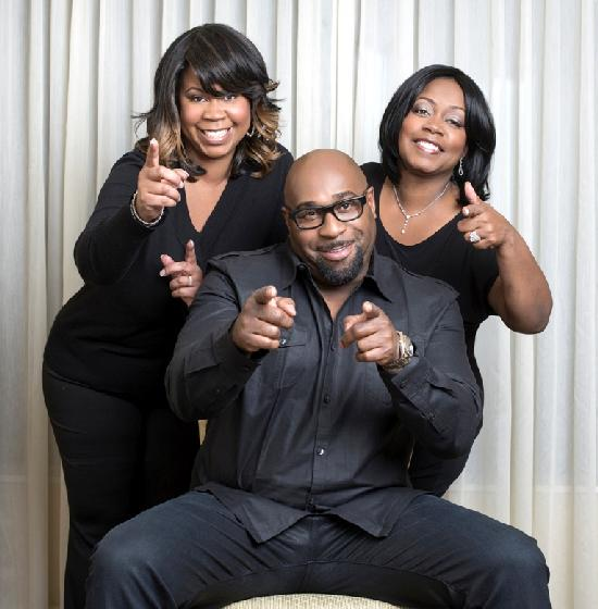 Powerhouse Productions Co-Founders Rochelle Brown and Sonia Armstead; (in middle) Chef G. Garvin