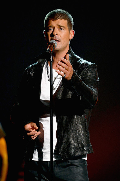 Singer Robin Thicke performs onstage during the 2014 Billboard Music Awards at the MGM Grand Garden Arena on May 18, 2014 in Las Vegas, Nevada