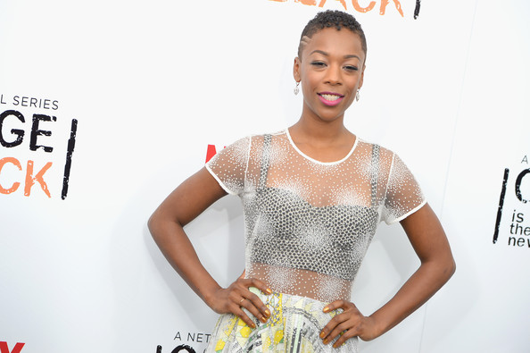 "Actress Samira Wiley attends the ""Orange Is The New Black"" season two premiere at Ziegfeld Theater on May 15, 2014 in New York City"