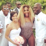 Serena Williams Crashes Beach Wedding in Leopard Bikini