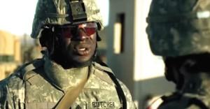 """Gbenga Akinnagbe as Sgt. Butcher in """"Fort Bliss"""""""