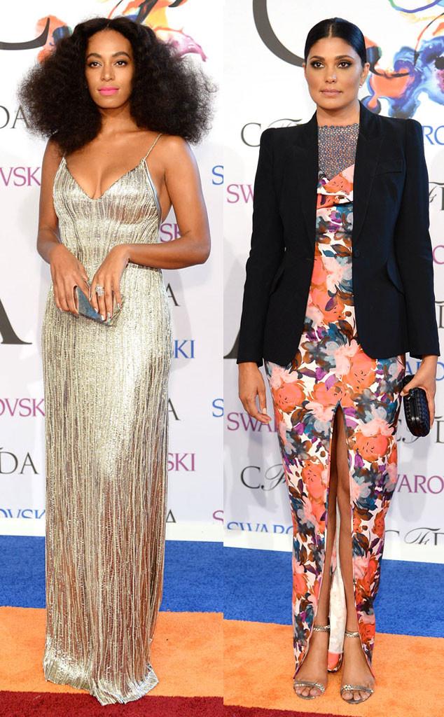 Solange (L) and Rachel Roy