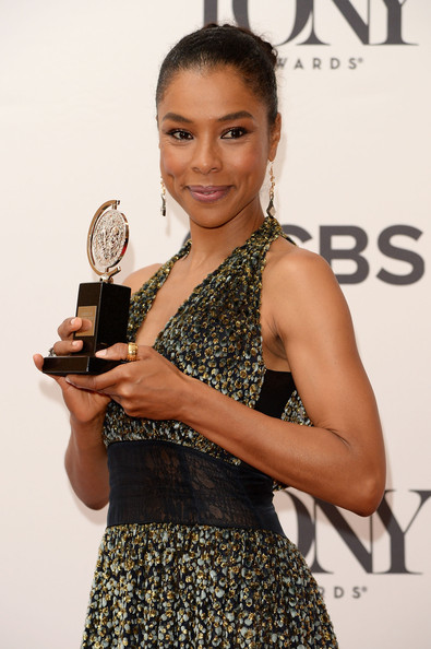 Actress Sophie Okonedo, winner of the Tony Award for Best Performance by an Actress in a Featured Role in a Play for 'A Raisin in the Sun' poses in the Paramount Hotel Winners' Room at the 68th Annual Tony Awards on June 8, 2014 in New York City