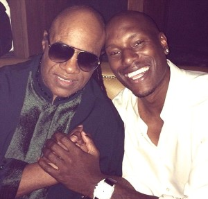 Stevie Wonder and Tyrese, from Tyrese's Instagram
