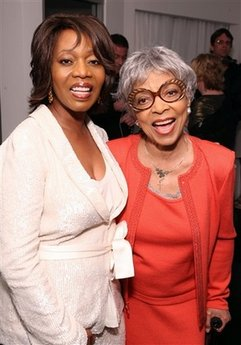 Alfre Woodard and Ruby Dee during the 2nd Annual Pre Oscar Dinner hosted by Alfre Woodard and Grey Goose on March 3, 2010 in Beverly Hills, California