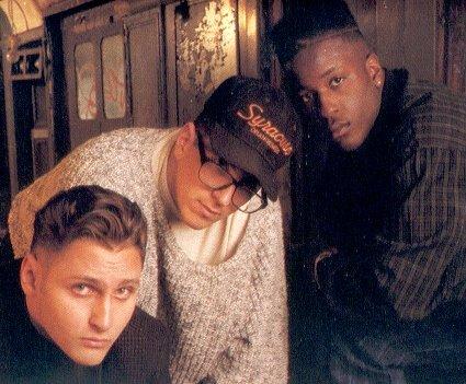 (L-R) Pete Nice, MC Serch and DJ Richie Rich of 3rd Bass