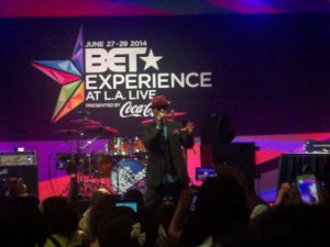 Eric Benet performing at the BET Experience on the Music Matters Stage. (Photo credit: Eunice Moseley)