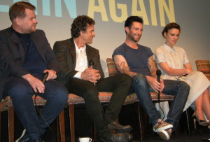 James Corden, Mark Ruffalo, Adam Levine, and Keira Knightley at the Crosby Hotel in New York