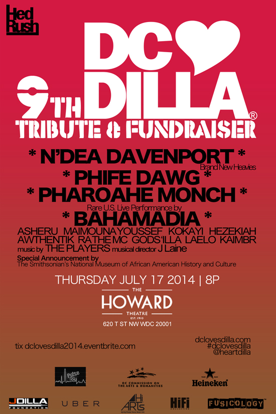 DC Loves Dilla flyer