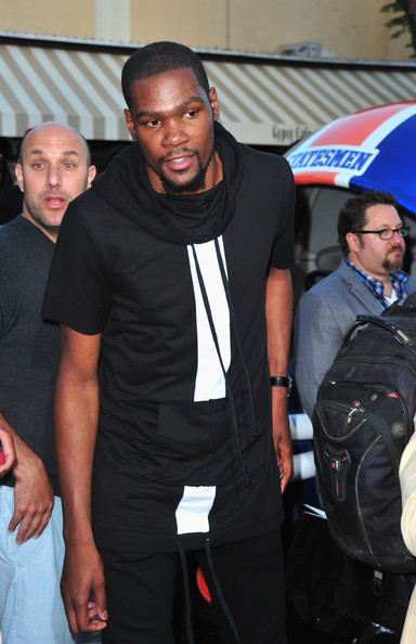 """NBA player Kevin Durant arrives at the Premiere Of Columbia Pictures' """"22 Jump Street"""" at Regency Village Theatre on June 10, 2014 in Westwood, California"""