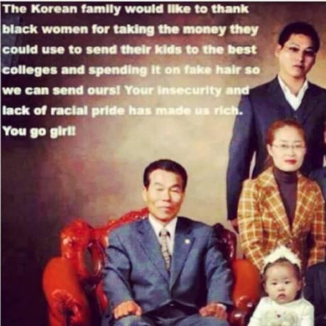 Korean memes black weave