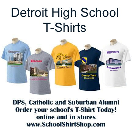 detroit high school t-shirts