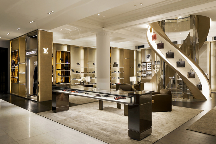 Inside department store Selfridges in London, the three-story Louis Vuitton 'townhouse'